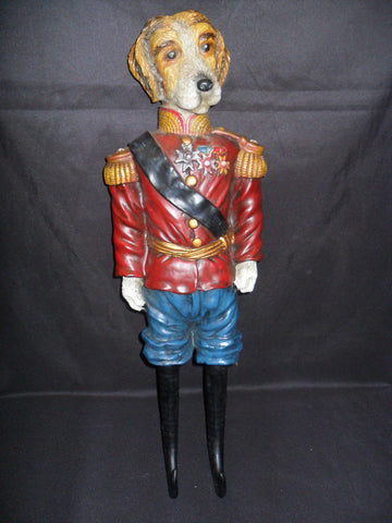 "Horse Bridle Holder - ""Dog In Red Uniform"""