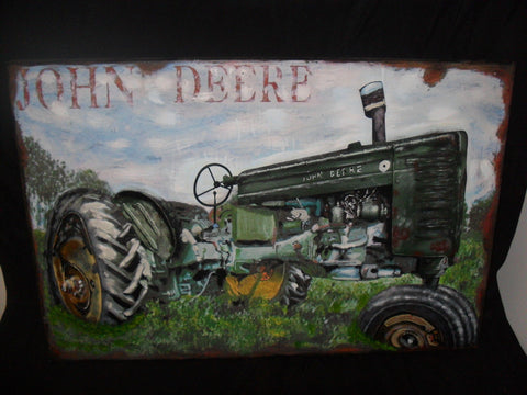 Tin Deere John Sign 3 Dimensional