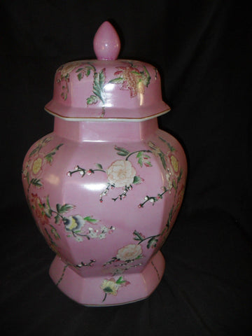 Porcelain - Urn Floral Painted Covered Urn