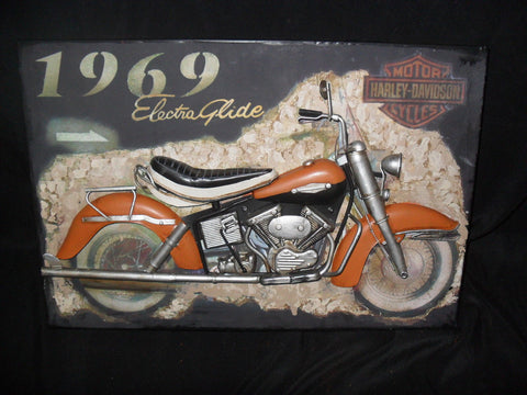 Tin Harley Davidson 3D Sign