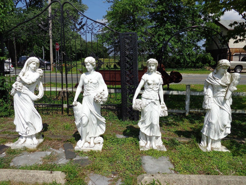 Marble Statue - Life Size Hand Carved Four Seasons Marble Statue