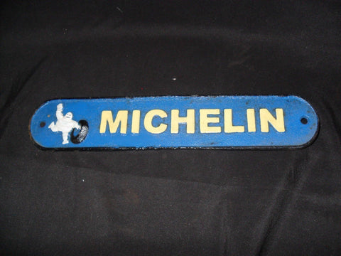 Michelin Tire Cast Iron Sign