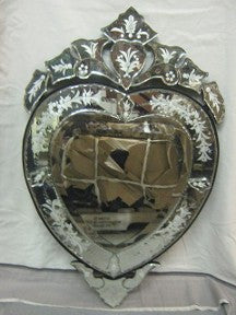 Venetian Mirror Small Heart