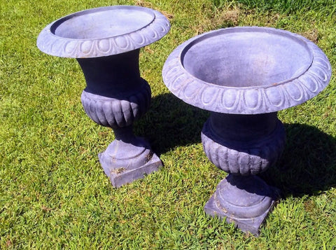 Urns Cast Iron -Pair Tall Planter