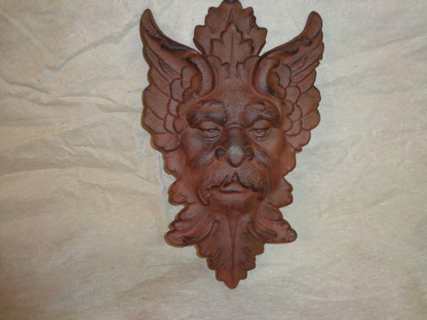 Cast Iron - Gothic Face Hanging Decor / Wall Art