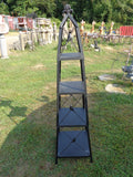 Industrial Black Stacking Obelisk Shelf
