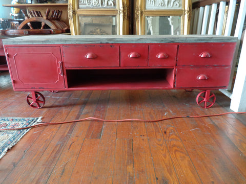 Coffee Cart Industrial Table/TV Stand