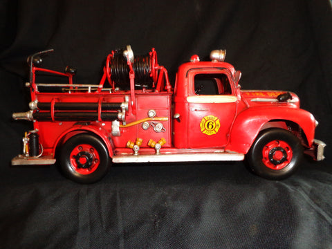 Fire Truck 1931 Ford Boyer Vintage Style Tin
