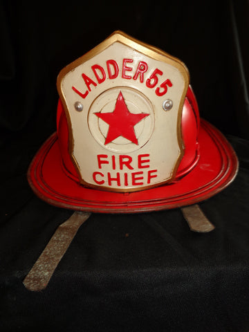 Metal Tin - Helmet Fireman Ladder 55 Fire Cheif