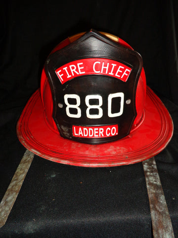 Metal Tin - Fire Cheif Ladder Co. 880 Red Helmet