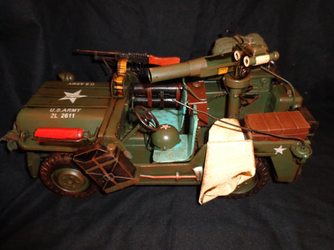 "Vintage Toys - Willys WB Military Jeep 15"" Large"