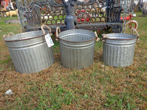 Industrial Planter 3 PC. Bucket Planter Set