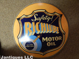 "Tin Sign - Advertising Button ""Richlube"""