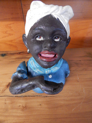 "Cast Iron - Mechanical Bank ""Maid"""