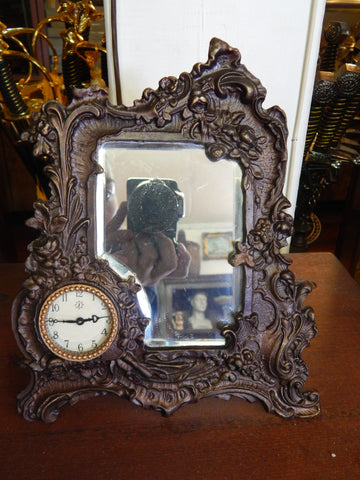 Mirror Bronze Clock