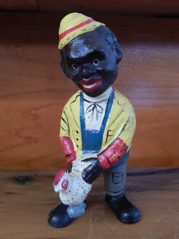 Americana Cast Iron Bank - Americana Chicken Man