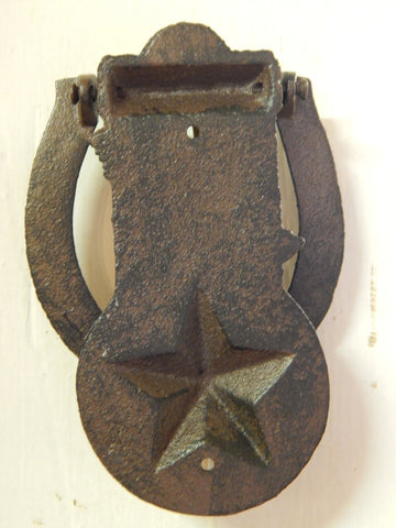 ... Cast Iron Door Knocker - Western Boot Hat and Lone Star & Cast Iron Door Knocker - Western Boot Hat and Lone Star u2013 Jantiques ...
