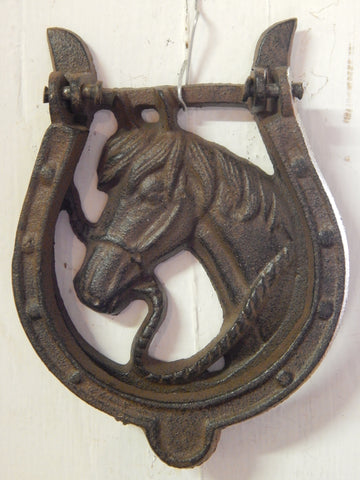 Door Knocker - Cast Iron Horse Head