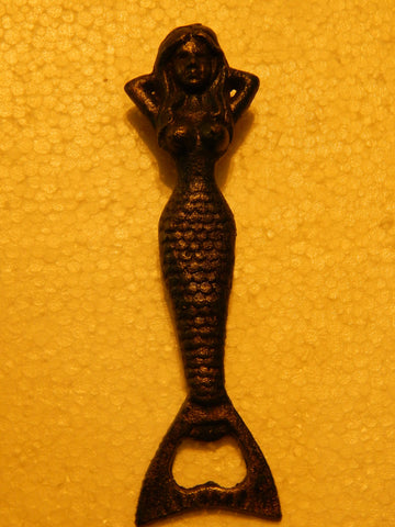 Bottle Opener -Cast  Iron Verdi Green Mermaid