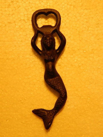 Cast Iron Bottle Opener - Mermaid Held
