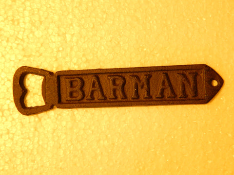 Cast Iron Bottle Opener - Beer BARMAN