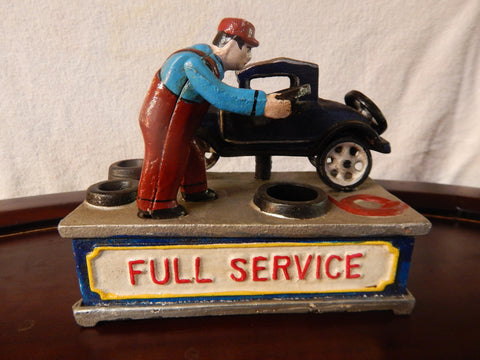 Mechanical Bank Full Service Coin Mechanical Bank