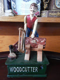 Cast Iron Mechanical Bank - Wood Cutter Coin Bank