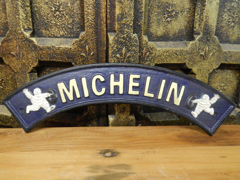 "Cast Iron Sign - Curve ""MICHELIN TIRE"""