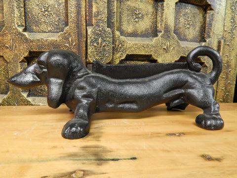 Boot Scraper Dachshund Dog Cast Iron