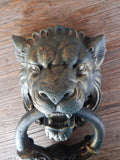 Lion Door Knocker -Cast Iron Gothic Lion Head
