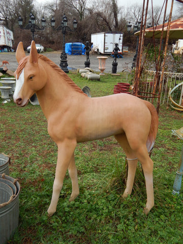 Baby Foal Life Size Display Statue