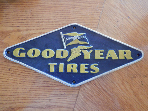"Cast Iron Sign - ""GOOD YEAR"""