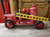Cast Iron Fire Truck - Hubley Fire Engine