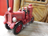 "Fire Engine Hubley Style 12"" Fire Engine"