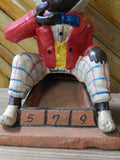 Cast Iron Mechanical Bank - Americana Top Hat Man Marble Game