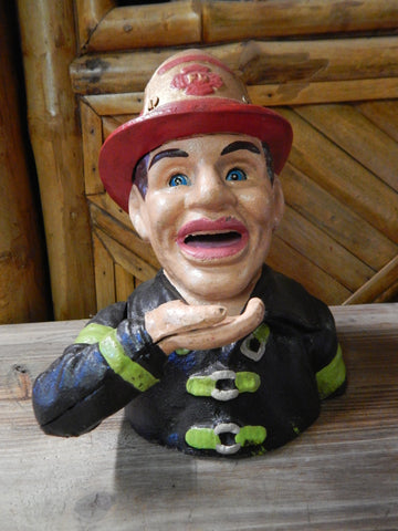Fire Man John Harper and Co. Fire Fighter Mechanical Bank