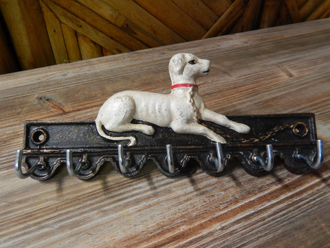 Key Holder Cast Iron - Dog 7 Key Hooks