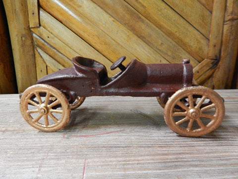 Cast Iron Figurine - Race Car Toy