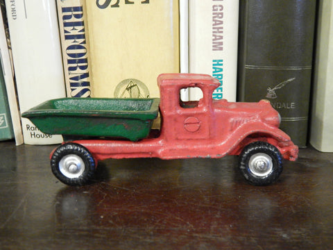 Cast Iron Figurine - Red Dump Truck