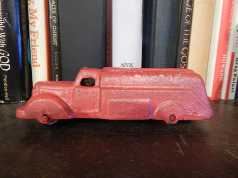 Cast Iron Figurine - Standard Oil Tank Truck Toy Red