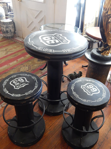 Industrial Rt. 66 Table and Chairs Set