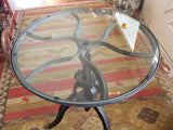 Industrial Hand Crank Glass Table