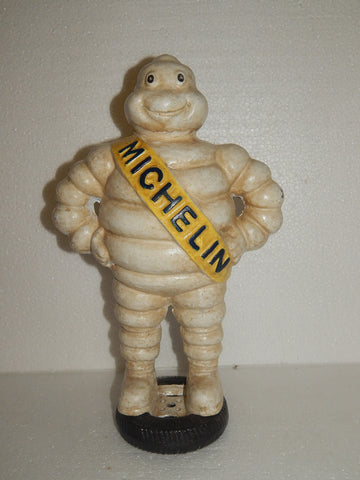Michelin Man Cast Iron Statue On Tire