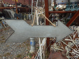 Arrow Hanging Sign Metal