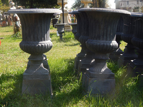 Urn Cast Iron - Pair 2 Piece Planter