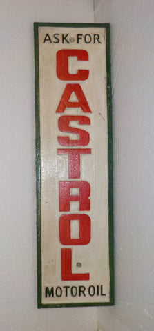 "Cast Iron Sign - ""CASTROL Motor Oil Vintage"""