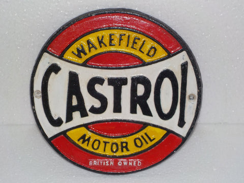 "Cast Iron Sign - ""CASTROL"" Wakefield Motor Oil"
