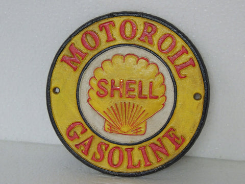 Cast Iron Sign - SHELL Motor Oil & Gasoline