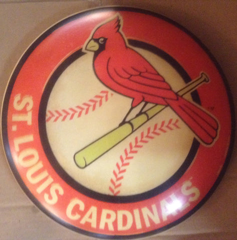 "Tin Sign - Advertising Button ""St. LOUIS CARDINALS"""