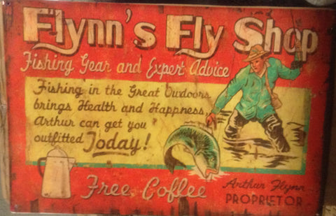 Flat Tin Sign - FLYNN'S FLY Shop